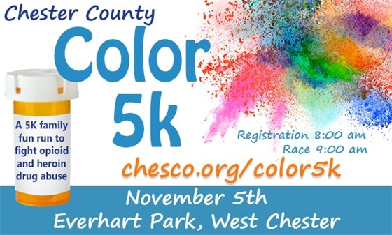 Chester County Color Run Informational Logo